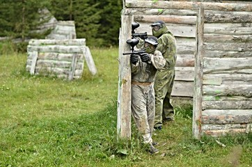 Player in paintball