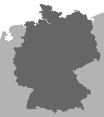 Deutschland in Europa (Grau)