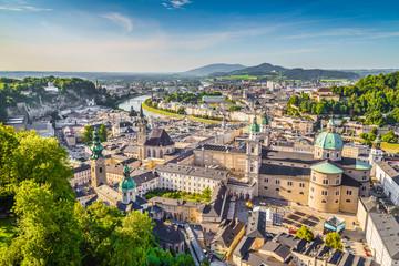 Historic city of Salzburg at sunset, Austria