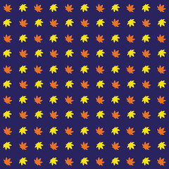 leaf seamless pattern background. vector illustration.