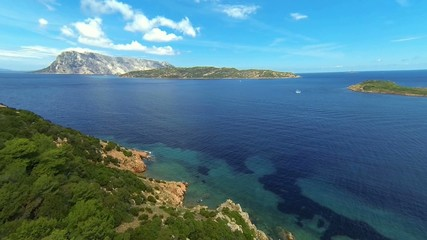 green hills on sardinia's eastern coast