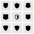 Vector black shield icons set - 70075737