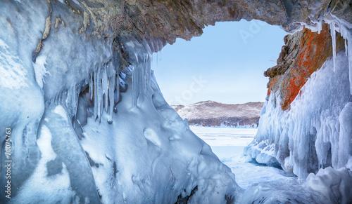 Fotobehang Gletsjers Ice cave