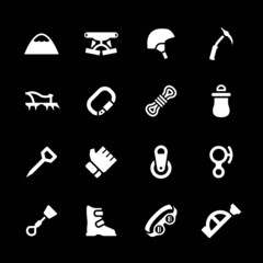 Set icons of mountaineering