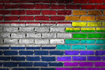 Dark brick wall - LGBT rights - Netherlands