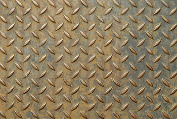 surface of a metal plate