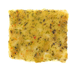 Top view of baked Pollock fillet