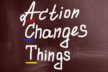 action change things concept