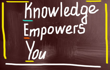 knowledge empowers you concept
