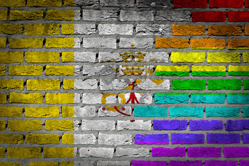 Dark brick wall - LGBT rights - Vatican
