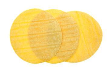 Three corn tortillas