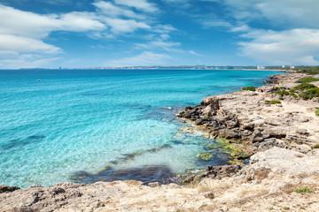 Turquoise beach near Gallipoli, Italy