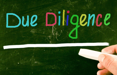 due diligence concept