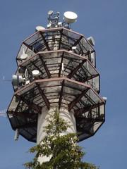 Torre de telecomunicaciones en el Salève (Francia)