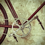 Retro styled image of an old bicycle