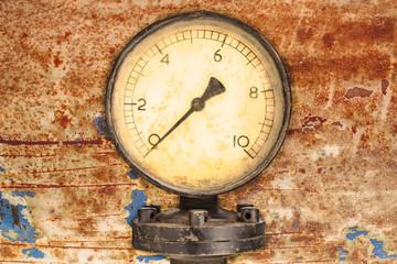 Old industry display mano meter