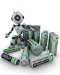 Robot with batteries