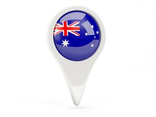 Round flag icon of australia