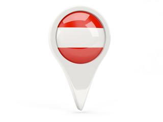 Round flag icon of austria