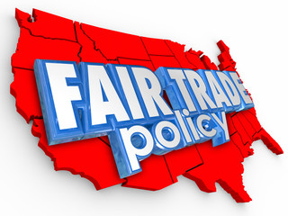 Fair Trade Poliy USA United States America Map Supply Economy