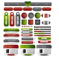 website design template elements