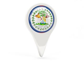 Round flag icon of belize