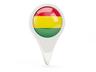 Round flag icon of bolivia