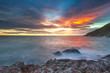 sea, Rocks, sunset on the Tropical sea beach