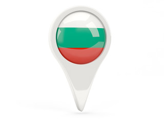 Round flag icon of bulgaria