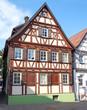 canvas print picture - Fachwerkhäuser in Aalen