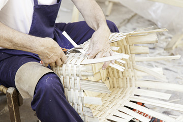 Home-made wicker baskets