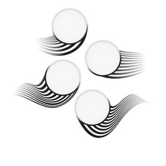 round badge set vectorelements