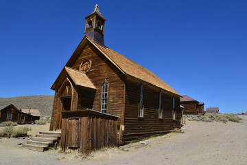 Bodie is a ghost town in the Bodie Hills east of the Sierra Neva