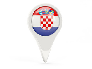 Round flag icon of croatia