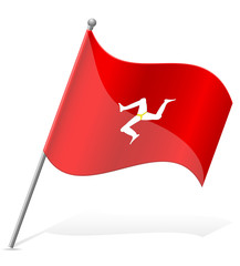 flag Isle of Man vector illustration
