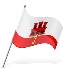 flag of Gibraltar vector illustration
