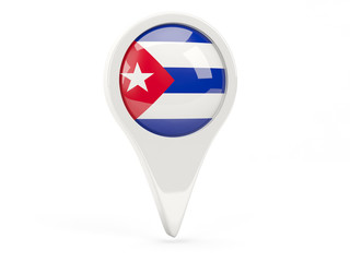 Round flag icon of cuba