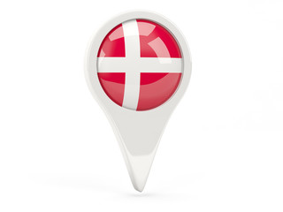 Round flag icon of denmark