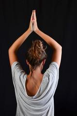 Teenage girl in Yoga pose
