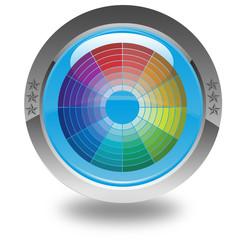 roue chromatique sur bouton