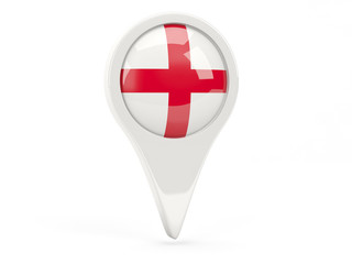 Round flag icon of england