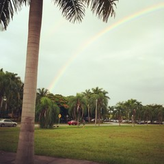 rainbow morning in Miami