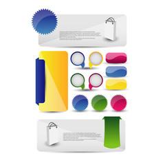 Colorful Web Banner set design