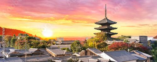 Foto op Canvas Japan Sonnenuntergang in Kyoto Japan