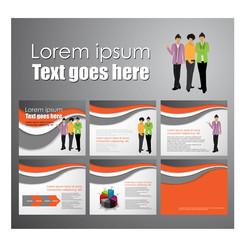 business brochure set design