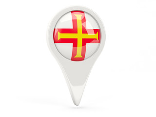 Round flag icon of guernsey