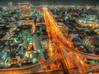 大阪の夜景 本町付近