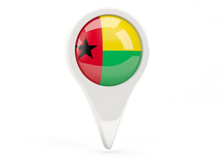 Round flag icon of guinea bissau