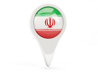 Round flag icon of iran