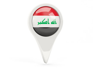 Round flag icon of iraq